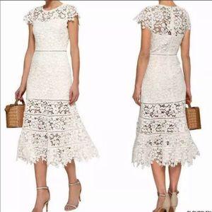 NWT Joie Celedonia white lace midi dress